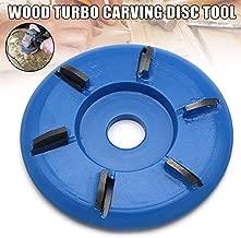 Alexsix Holzschnitzscheibe, Holz-Turbo-Carving-Scheibenwerkzeug Fräswerkzeuge für Winkelschleifer, 90 mm Power-Holzschleif-Trennscheiben-Winkelschleifer-Aufsatz-Fräswerkzeug für die Holzbearbeitung