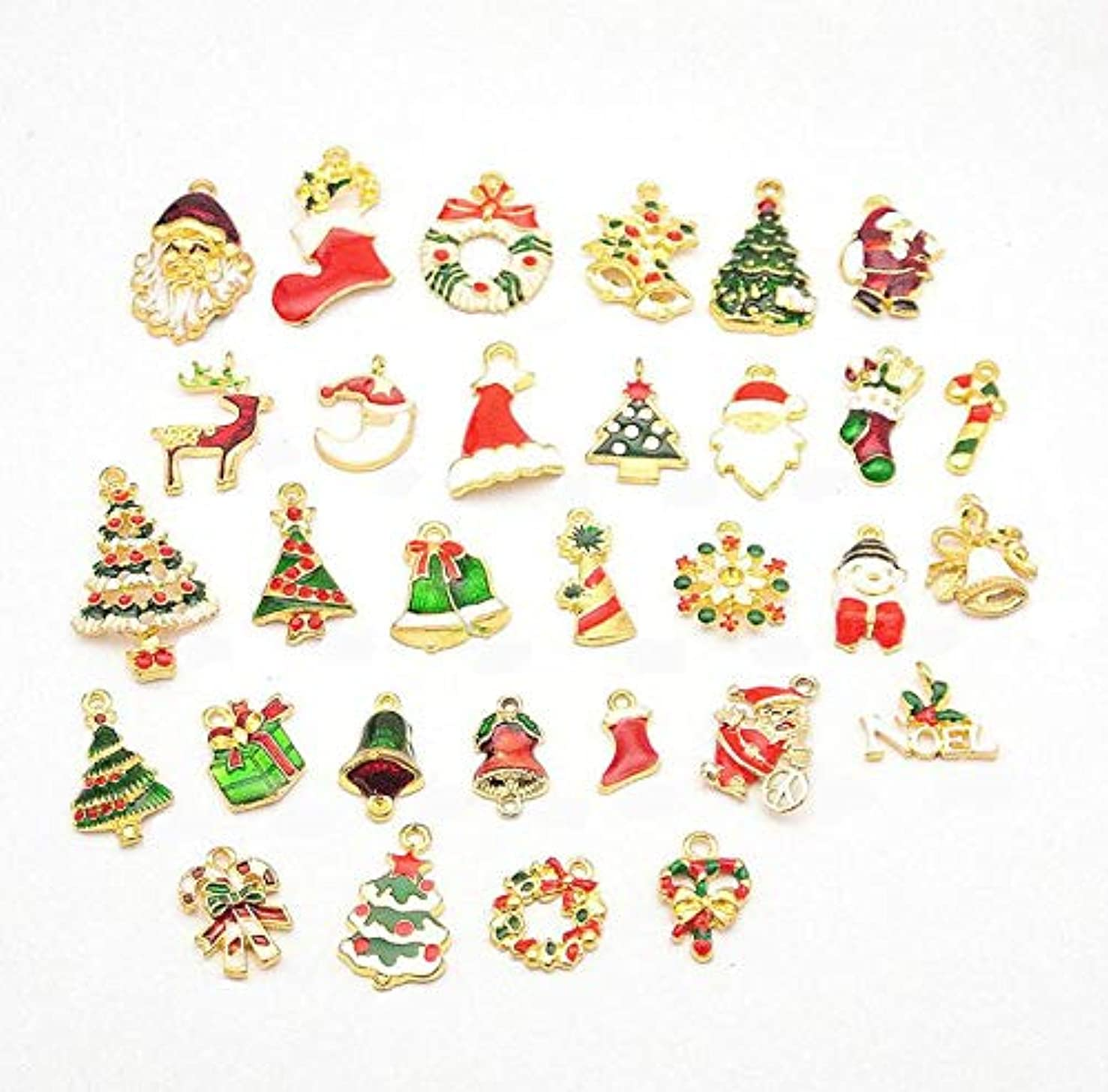 20pcs Mixed Style Fruit Christmas Charm Pendants for DIY Craft Making Jewelry Making Pendants (Style 1)