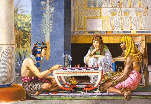 Unbekannt Puzzle 1000 Teile - ägyptische Schachspieler - Schachspiel in Ägypten - Sir Lawrence Alma Tadema - Kairo Asien Egyptian Schach