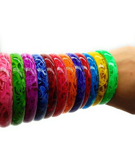 Bollywood Schmuck Kunststoff Armreifen Armband Kada Bangle Multicolor Geschenk Hochzeit bemalen boho basteln christ cluse indische hippie-multi, Size: 2.6(6 cm)