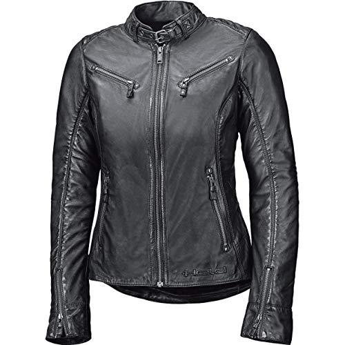 Held Motorradjacke mit Protektoren Motorrad Jacke Sabira Damen Lederjacke schwarz 46, Chopper/Cruiser, Ganzjährig