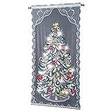 ETC Lighted Christmas Tree Curtain Panel, White, Multi, 40'W x 84'L.