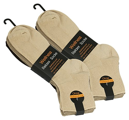 Vincent Creation 8 Paar Damen Wellness Kurzsocken ohne Gummib& & handgekettelte Spitze, original