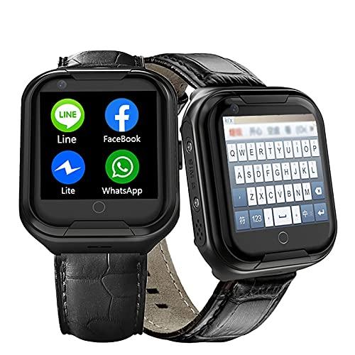 FVIWSJ Pulsera Actividad,smartwatch,Reloj Inteligente Impermeable IP68,Localizador SOS Móvil,Localizador GPS Personas Mayores/Abuelos/Ancianos/niños, Android,iOS