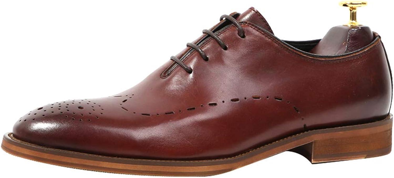 LEFT &Right herr Retro Vintage Oxfords Oxfords Oxfords skor, Genuine läder Flat skor Smart Round Toe bröllop Lace Up Derby skor Formal Dress skor  köp bäst