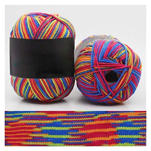 Double Nice Wolle 50g / Kugel Mix Farben Baumwolle Mischgarn Gradient Handgestrickte Häkeln Garn Handgemachte Pullover Schal Hut Linie Threads Material Wolle zum Stricken (Color : 16)