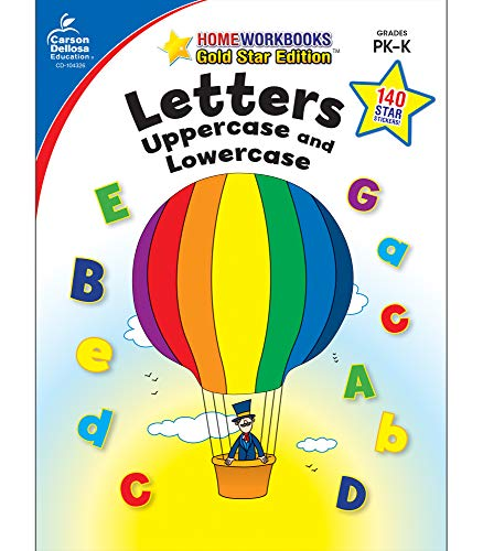 Letters Uppercase And Lowercase Grades Pk K Gold Star Edition Home Workbooks