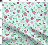 Erdbeere, Grün, Beere, Rosa, Sahne, Magenta, Obst Stoffe -