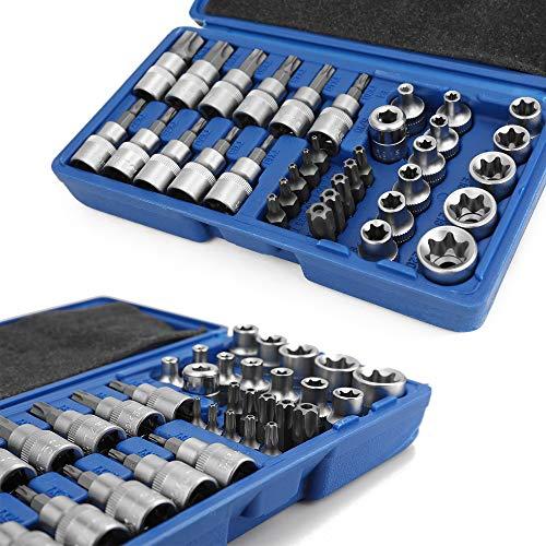 Fino Calidad Cromo Vanadio Acero 34 UNIDS Conjuntos de Manga de Lote de Lote de Presión Conjuntos de Manguera de Cabeza Máquina de Reparación de Motores Socket Set Llave Hembra Torx macho