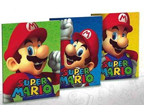 Set 3 quaderni maxi un rigo (Quinta elementare, scuole medie e superiori) Super Mario Cartorama