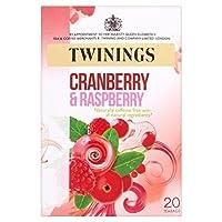 トワイニングのクランベリー&ラズベリーティーバッグパックあたり20 - Twinings Cranberry & Raspberry Tea Bags 20 per pack [並行輸入品]