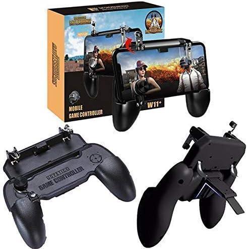 Karma Enterprise 3 in 1 Pubg Free Fire Cod Mobile Remote Controller W-11+ Gamepad Trigger 4 Finger Holder Handle Joys...
