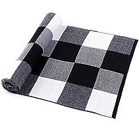 マフラー マフラー メンズ 秋冬 柔らかい レディース 暖かい 防寒 軽量 ソフトスカーフ XueQing Pan (Color : Black+white, Size : Onesize)
