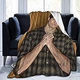 Manta de edredón Noah Centineo Mantas de Tiro Elegante Impresión 3D Confort Eterno Manta de Microfibra Ultra Suave Apta para Todas Las Estaciones 80 'x 60'