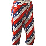 Royal & Awesome Men's Golf Knickers, Pars/Stripes, 36' Waist-91 cm