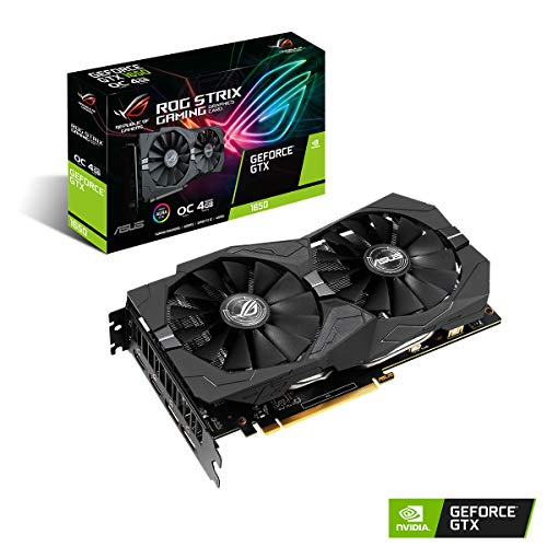 ASUS ROG STRIX NVIDIA GeForce GTX 1650 OC 4G Gaming Grafikkarte (PCIe 3.0, 4GB DDR5 Speicher, HDMI, DVI, Displayport)