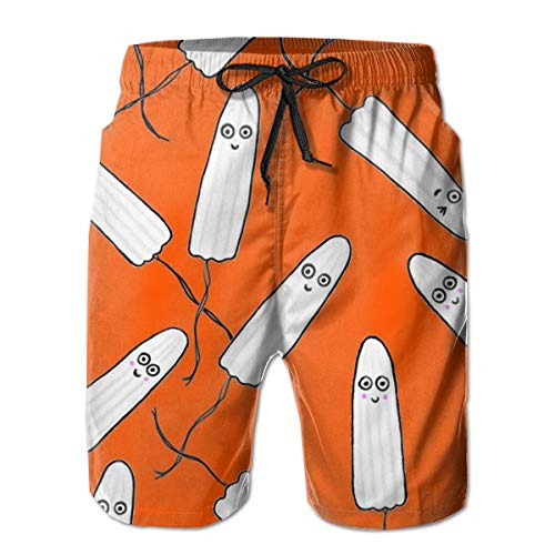 remmber me Kawaii Tampons Orange Herren Big & Tall Cargo Kurze Boardshorts Essentials Sportwear Quick Dry L