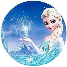 Frozen Elsa Anna Edible Image Photo Cake Topper Sheet Birthday Party - 8 Inches Round - 77830