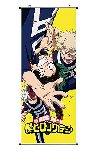 CoolChange Großes My Hero Academia Rollbild | Kakemono aus Stoff | Poster 100x40cm | Motiv: My Hero Academia Logo