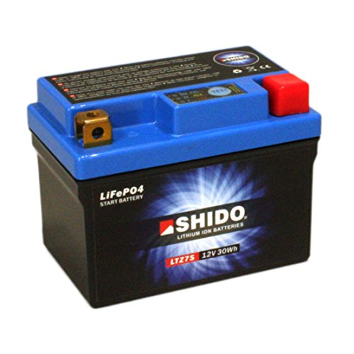 Batterie Shido Lithium LTZ7S / YTZ7S, 12V/6AH (Maße: 113x70x105) für Yamaha YZF600 R6 Baujahr 2017