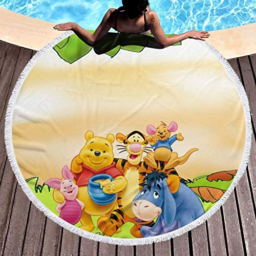Win-nie The Pooh - Toalla de playa de microfibra, tamaño grande, a prueba de arena, secado rápido, ligera, toalla de viaje para gimnasio
