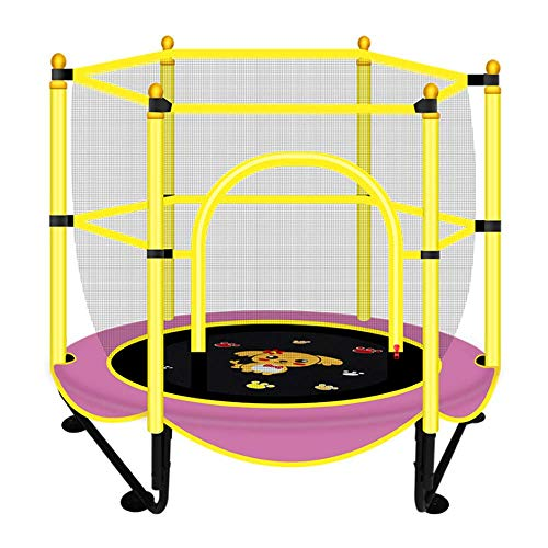 Kids Household Small Trampolines Set, Met Safety Net - Cartoon Patroon Jump Doek, Voor Indoor Outdoor Ronde Bouncer Sports Activity