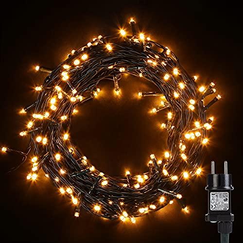 Luci di Natale 100 LEDs 10M, Catena Luminosa 8 Modalità Impermeabile