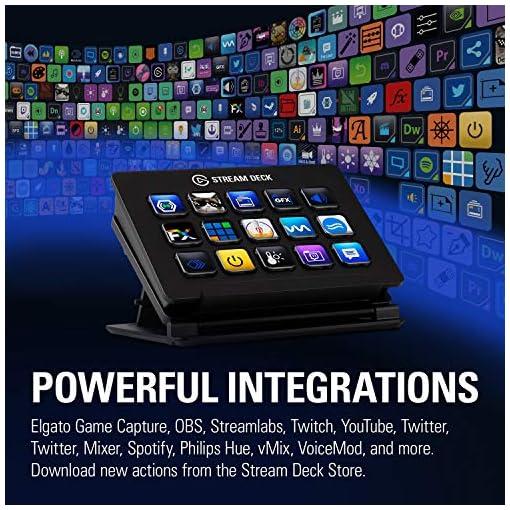 elgato Stream Deck - Controlador para contenido en directo, 15 teclas LCD personalizables, soporte ajustable, Windows 10… 4