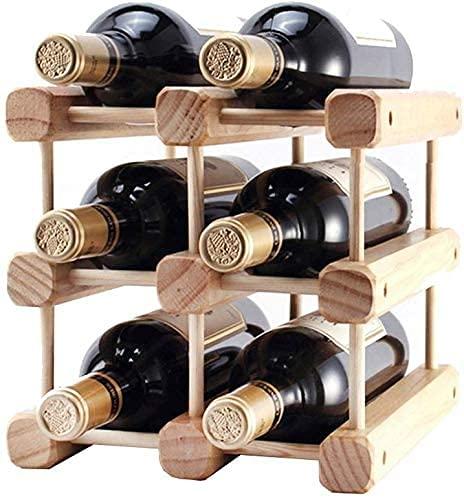 COLiJOL Vinhållare vinställ trä bänkskiva flaskhållare vinställ konfigurationer furu modulära familjesammankomster trä