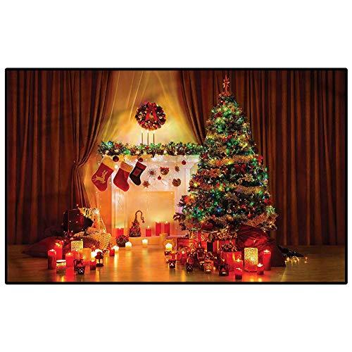Christmas Modern Soft Rug Pad Tree Festive Presents Indoor-Outdoor Carpet Kids 3 x 5 Ft