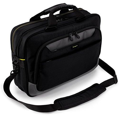 Targus TCG455EU CityGear – Laptoptasche/Aktentasche/Kuriertasche, perfekt für Pendler und Geschäftsreisende und Laptops mit einer Bildschirmdiagonale von bis zu 14Zoll geeignet – schwarz/grau
