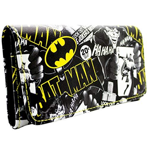 DC Batman Joker est en Ville Noir Portefeuille