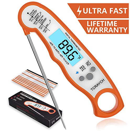 Cheap TCRAYCH Instant Read meat thermometer,Best Waterproof Food Cooking Thermometer Digital Cooki...