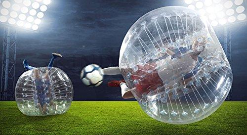 kidsfly 1,5 m 1,2 m 1,0 m 40 Bumper Fußball aufblasbare Blasen-Bälle Sport Spiel für Kinder Erwachsene, Mädchen Kinder unisex Jungen Herren