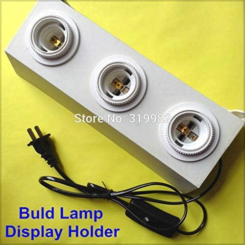 Kamas E27 Lamp Buld Soldering Display Holder Ligh 3 Socket Screw Wholesale Heads