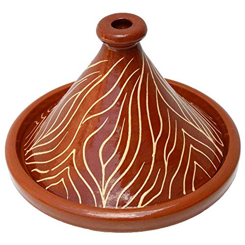 Lorient Tajine Tontopf NAR aus Marokko Glasiert Ø 30 cm für 2-4 Personen für die marokkanische Küche | Marokkanische Tajine, Tontopf, Gartopf, arabische orientalische Schmortopf