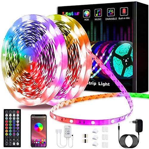15m Tiras LED, L8star Luces Led Habitación 5050 RGB, Control Remoto 44...