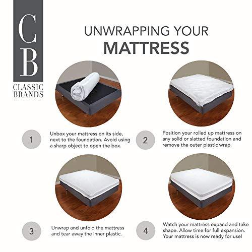 Classic Brands Cool Gel Memory Foam 8-Inch Mattress | CertiPUR-US Certified | Bed-in-a-Box, Twin