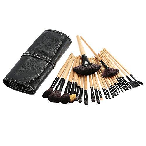 Conjunto de pincéis de maquiagem profissionais Blusea 24 peças Essencial Cosmetic Make Up Brushes Kit Pincel para Sobrancelhas Pincel para Sobrancelhas e Sobrancelhas + Bolsa Preta
