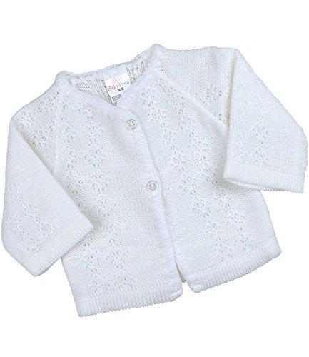 Babyprem Babykleidung StrickJäckchen Pullover Weich Gestrickt 50-56cm Neugeborene Weiss