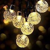 50 Luces Solares de la Cadena Luces a Prueba de Agua 6,7 Metros de Jardín Iluminación Solar la Bola de Cristal de Navidad Iluminación Decorativa para el Jardín, Patio, Jardín, Hogar, Chrismas