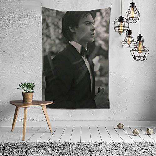 Va-Mpire Diaries Damon_Salvatore tapiz de pared colgante arte de pared decoración del hogar para dormitorio sala de estar dormitorio 60x40 pulgadas