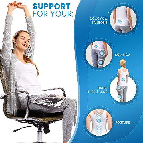 Aeropost Com Nicaragua Everlasting Comfort Seat Cushion For Office Chair Tailbone Pain Relief Cushion Coccyx Cushion Sciatica Pillow For Sitting