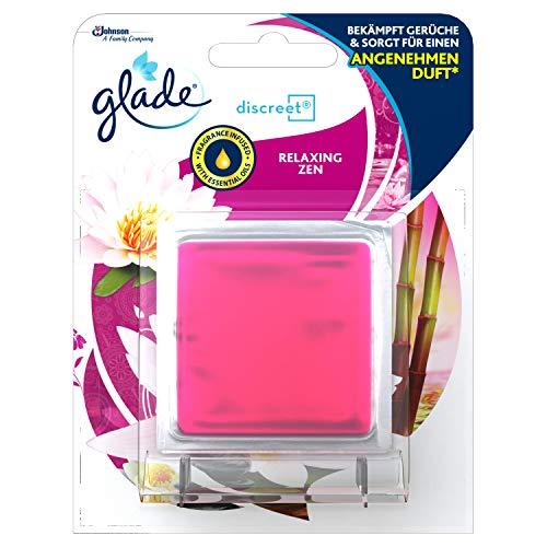 Glade (Brise) Discreet Decor Original (inkl. Nachfüller) dekoratives Duftglas, ideal für kleine Räume, Relaxing Zen, 1er Pack (1 x 8 g)