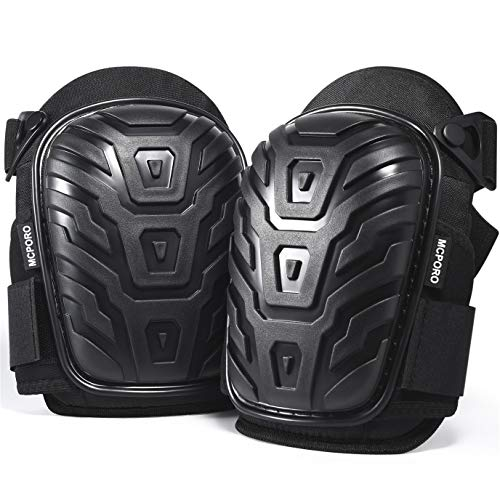 Professional Knee Pads for Work – Breathable Heavy Duty Construction Pads With Foam Padding for Construction, Gardening, Flooring with Adjustable Non-Slip Straps (1)