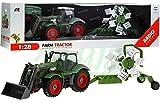 Traktor mit Anhänger QY8301I im Maßstab 1:28 - Ferngesteuertes Traktor inkl. Fernsteuerung - RC Farm Car - Farm Traktor mit abnehmbarem Anhänger
