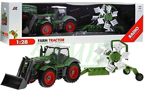 RC Auto kaufen Traktor Bild: Traktor mit Anhänger QY8301I im Maßstab 1:28 - Ferngesteuertes Traktor inkl. Fernsteuerung - RC Farm Car - Farm Traktor mit abnehmbarem Anhänger*