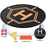 Drone Landing Pad 4 LED Lights Included 32' Aurtec Portable Fast-Fold...