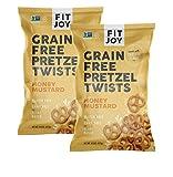 FitJoy Gluten Free Pretzels, Honey Mustard Twists, Grain Free, 4.5 Ounce Bags (2 Pack)