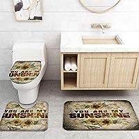 ZGDPBYF 浴室用アップホームバスマットヴィンテージひまわりマッツォプリントバスマットシャワーフロア用カーペットバスタブマット
